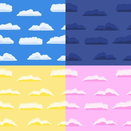 pring: Set of seamless backgrounds with clouds