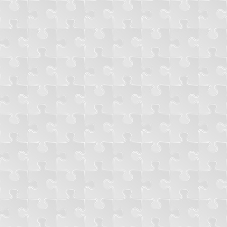 Abstract grey seamless puzzle background Vector