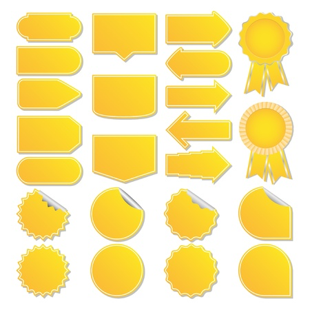 Yellow price tags Vector