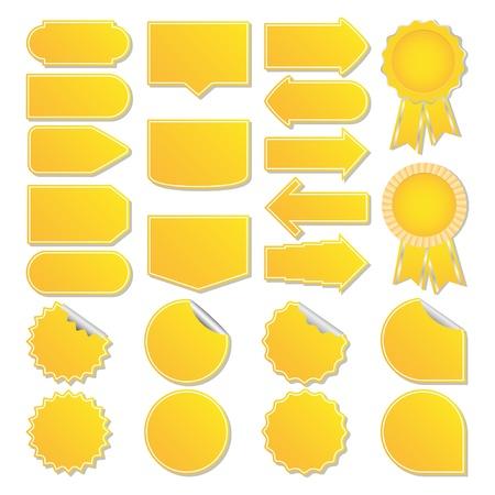 price tags: Yellow price tags