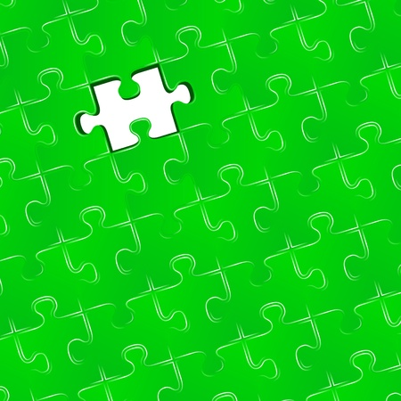 missing piece: Jigsaw puzzle with one missing piece