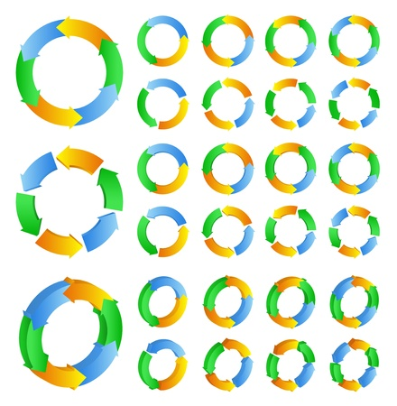 circles with arrows Vector