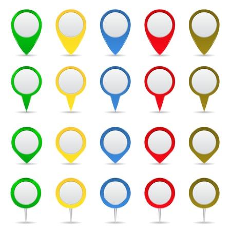 jelzÅ: Térkép markerek Illusztráció