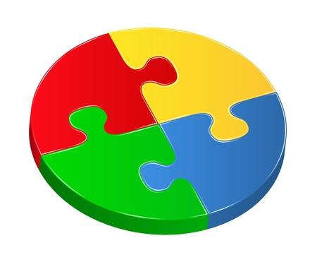 Vector puzzle circle Vector