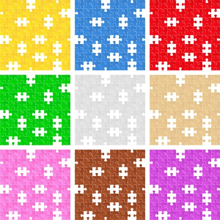 incomplete: Seamless puzzle backgrounds with missing pieces Illustration