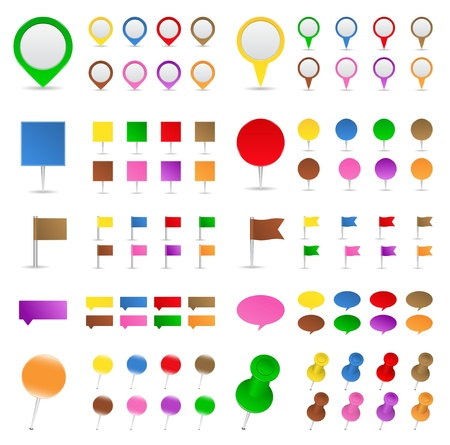 pin icon: Map markers