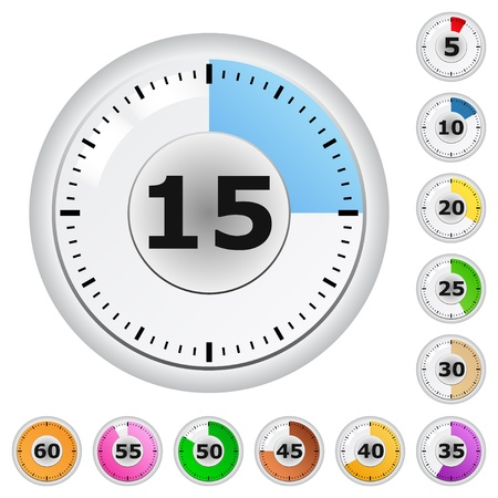 clock icon: Vector Timers