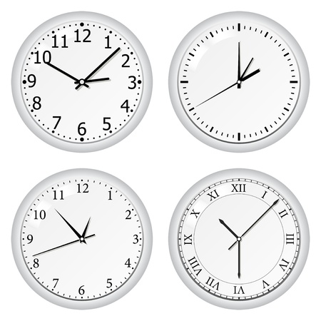 Vector grey wall clock Stock Vector - 10365702