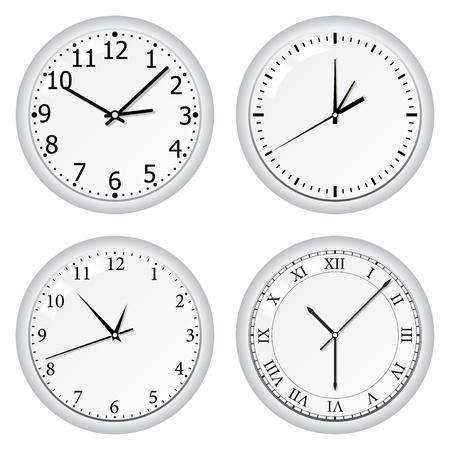 Vector grey wall clock Stock Vector - 10365702