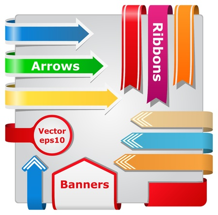 bookmark ribbon: arrows, ribbons and banners Illustration