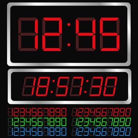 display type: Vector de reloj digital