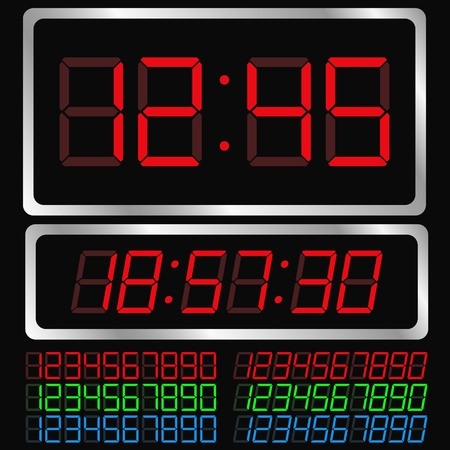 Vector Digital Clock Vector
