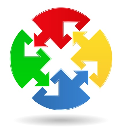 conectar: rompecabezas c�rculo con flechas