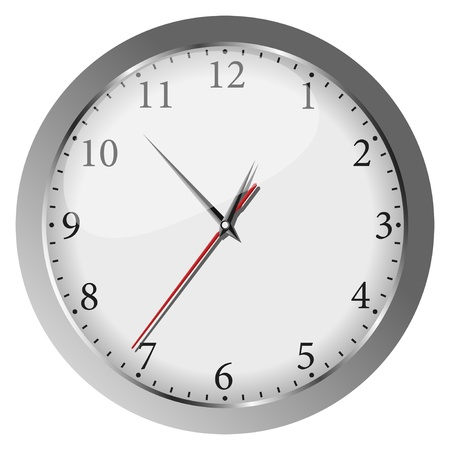 wall clock: gray wall clock Illustration