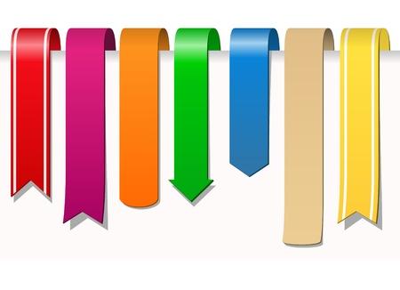 marcadores de libros:  cintas Vectores