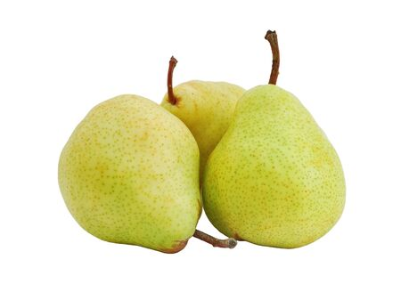 Three pears isolated on white background photo