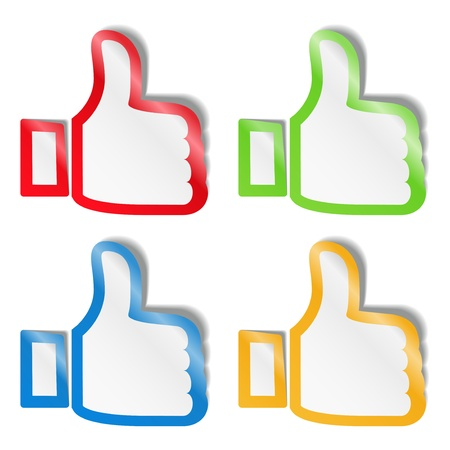 Thumb up stickers Vector
