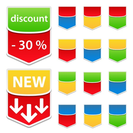Vector Labels with Arrows Stock Vector - 10518265