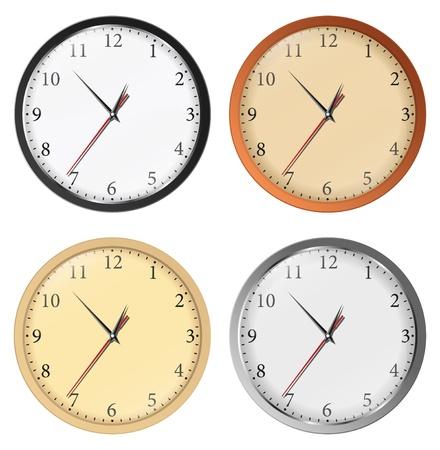 Vector clocks Stock Vector - 10569824