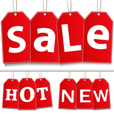 hot announcement: Vector Hanging Sale Tags