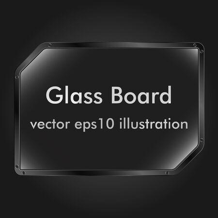 ad board: Vector glass message board Illustration