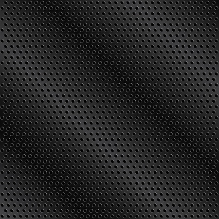 Black metal background with holes Vector