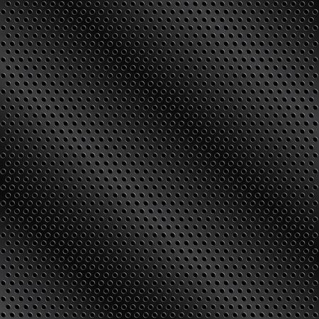 Black metal background with holes Illustration