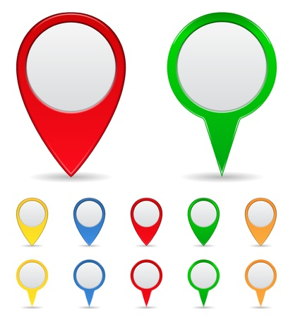 white pointer: Map Markers