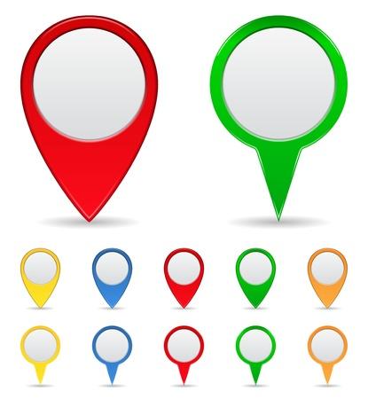 elhelyezkedés: Térkép jelzők Illusztráció