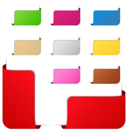 corner tab: Corner ribbons Illustration