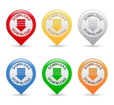 Download Buttons Stock Vector - 10644016