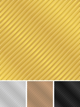 Metal striped backgrounds Vector