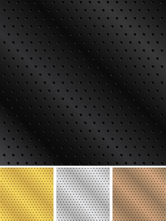 Metal backgrounds with holes Vector