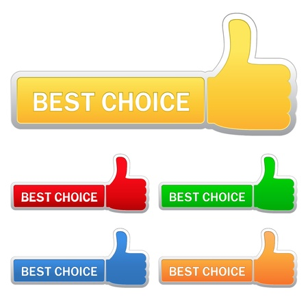best choice: Thumb up signs