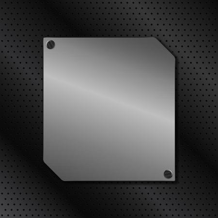 metal board on black background Stock Vector - 10676592