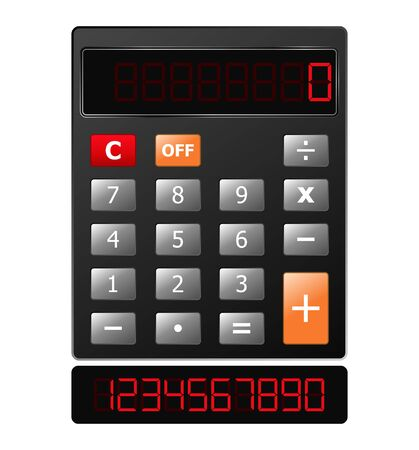 calculator with red digits Stock Vector - 10676585
