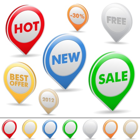 Vector set of sale pointer Vector