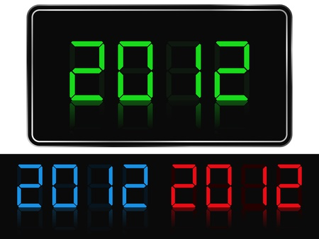 Vector digits of new year 2012 Vector