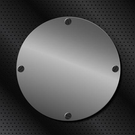 Vector Metal Round Board Stock Vector - 10709569