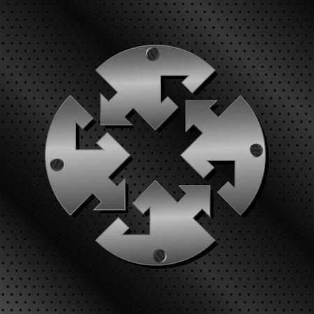 metalic: Vector Metall Kreis mit Pfeilen