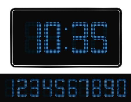 Vector Blue Digital Clock Stock Vector - 10746760