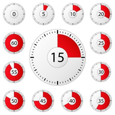 chronom�tre: Vecteur minuteries Illustration