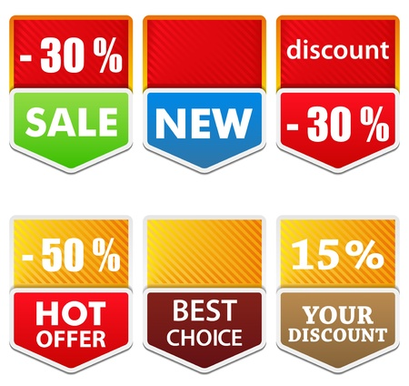 discount banner: Vector Labels with Arrow