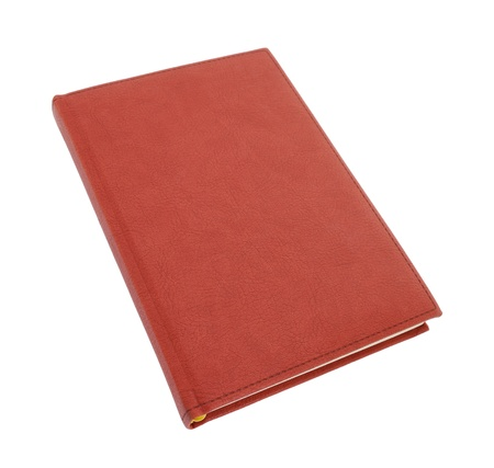 Brown leather notebook isolated on white background  photo