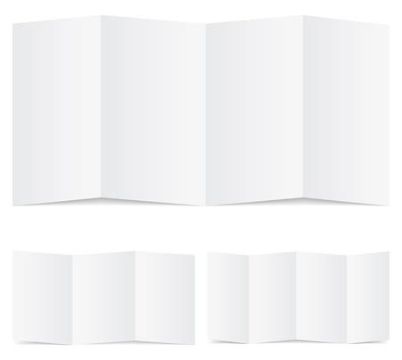 Blank folded paper Stock Vector - 10798759