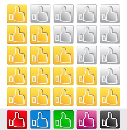 Vector Rate Buttons Stock Vector - 10798772