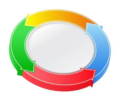 Vector 3D Arrow Circle Vector