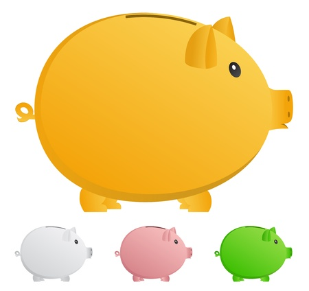 Vector piggy banks Stock Vector - 10888276