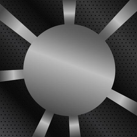 Vector Metal Background Stock Vector - 10888290
