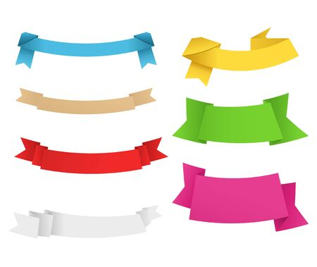 Vector Origami Banners Vector